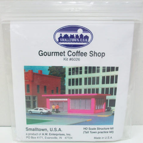 Smalltown USA 6026 HO Scale Gourmet Coffee Shop Kit
