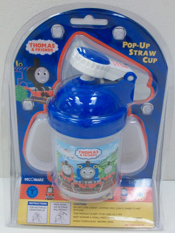 Thomas & Friends Pop-Up Straw Cup