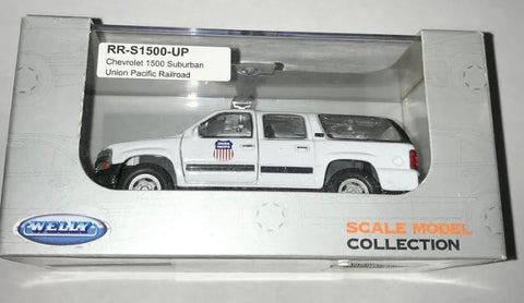 Welly Diecast RR-S1500-UP Chevrolet 1500 Suburban Union Pacific Railroad