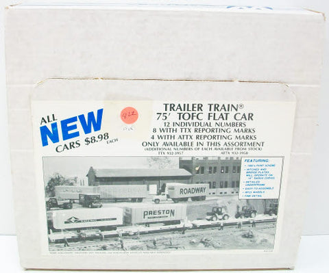 Walthers 932-53A 75' TOFC Flat Car Trailer Train Set