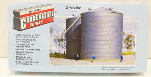 Walthers 933-3123 HO Big Grain Storage Bin Kit
