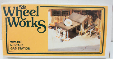 Wheel Works 96139 N-Scale Gas Station Kit