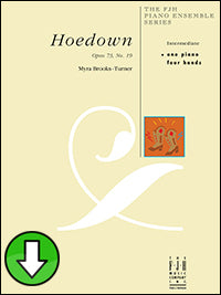 Hoedown, Opus 73, No. 19 (Digital Download)