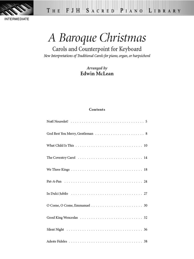 A Baroque Christmas – The FJH Music Company inc