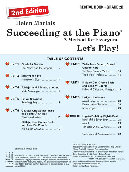 Succeeding at the Piano Recital Book - Grade 2B (2nd Edition) (with CD)