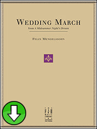 Wedding March (from A Midsummer Night's Dream) (Digital Download)