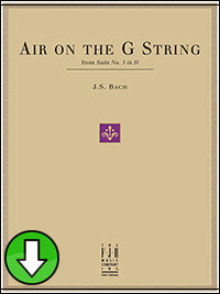 Air on the G String, from Suite No. 3 in D (Digital Download)