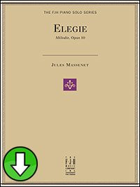 Elegie, Melodie, Op. 10 (Digital Download)