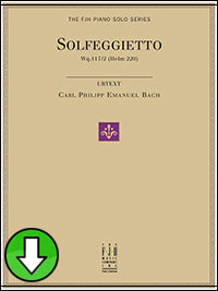 Solfeggietto (Digital Download)