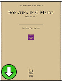 Sonatina in C Major, Op. 36, No. 1 (Digital Download)