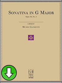 Sonatina in G Major, Op.36, No.2 (Digital Download)