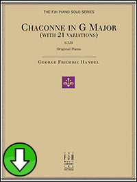 Chaconne in G Major, G229 (with 21 Variations) (Digital Download)