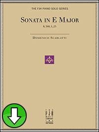 Scarlatti's Trumpet Sonata in E Major, K. 380, L. 23 (Digital Download)