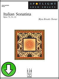 Italian Sonatina, Op. 70, No. 13 (Digital Download)