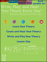 Write, Play, and Hear Your Theory Every Day, Answer Key, Book 1