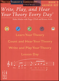 Write, Play, and Hear Your Theory Every Day, Answer Key, Book 2