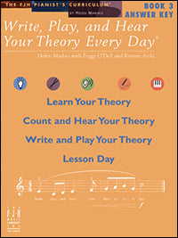 Write, Play, and Hear Your Theory Every Day, Answer Key, Book 3