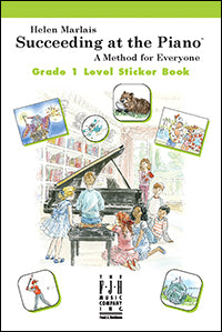 Succeeding at the Piano Sticker Book - Grade 1