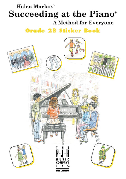 Succeeding at the Piano Sticker Book - Grade 2B