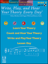 Write, Play, and Hear Your Theory Every Day, Book 4