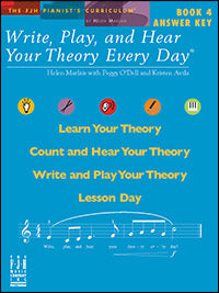 Write, Play, and Hear Your Theory Every Day, Answer Key, Book 4