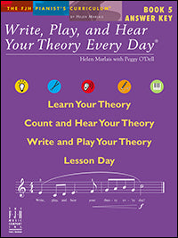 Write, Play, and Hear Your Theory Every Day, Answer Key, Book 5