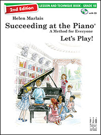 Succeeding at the Piano Lesson and Technique Book - Grade 1B (2nd Edition) (with CD)
