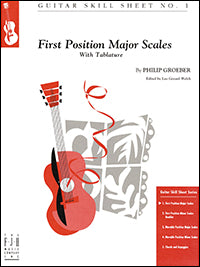 Guitar Skill Sheet No. 1 - First Position Major Scales