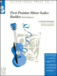 Guitar Skill Sheet No. 2 - First Position Minor Scales