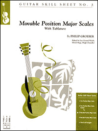 Guitar Skill Sheet No. 3 - Movable Position Major Scales