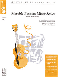 Guitar Skill Sheet No. 4 - Movable Position Minor Scales