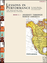 Lessons in Performance Book 1, Journey Through North America - Violin 2
