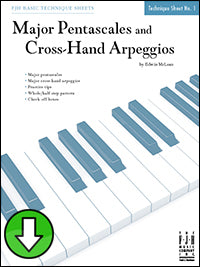 Major Pentascales and Cross-Hand Arpeggios (Digital Download)