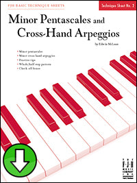 Minor Pentascales and Cross-Hand Arpeggios (Digital Download)