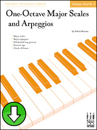 One-Octave Major Scales and Arpeggios (Digital Download)