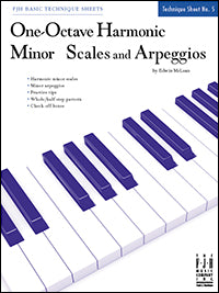 One-Octave Harmonic Minor Scales and Arpeggios