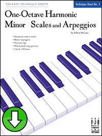 One-Octave Harmonic Minor Scales and Arpeggios (Digital Download)