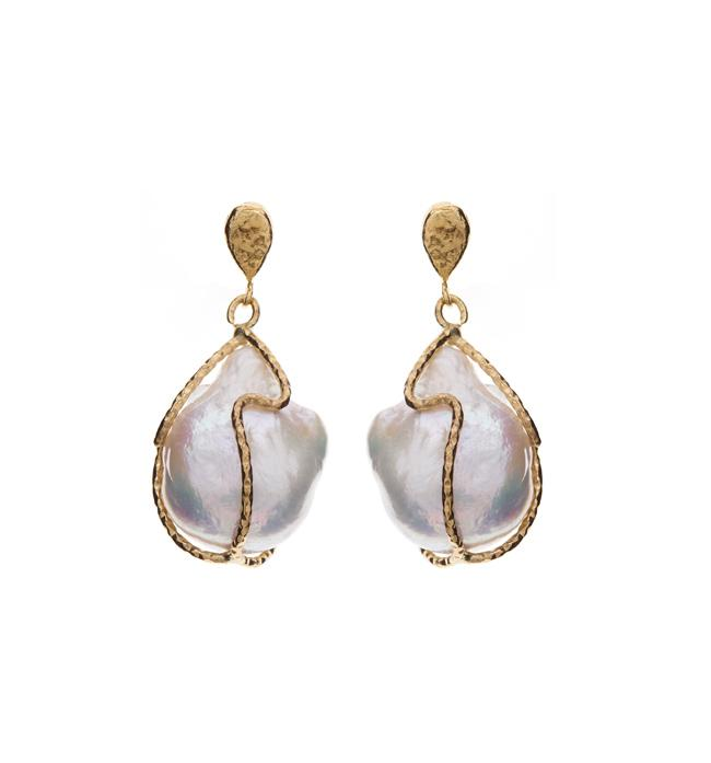PEARL CAGED EARRINGS