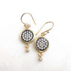TWO-TONE COIN EARRINGS