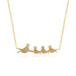 14K GOLD MAMA & BABY BIRD NECKLACES
