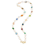PEARL GEMSTONE LONG NECKALCE