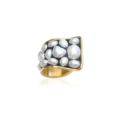 PEARL STATEMENT RING