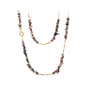 NATURAL STONE & GOLD BEAD NECKLACE
