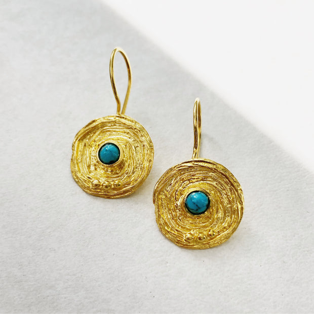 TURQUOISE   GOLD DROPS 1