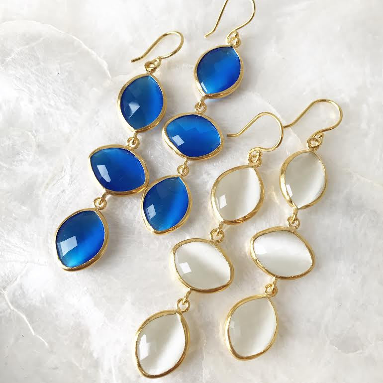 Three Drop Earrings