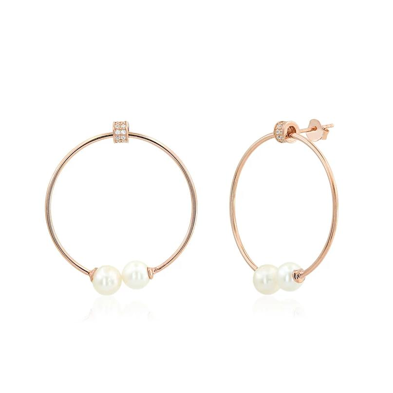 HOOPS WITH PEARLS