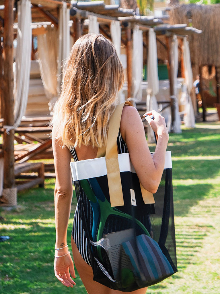 GRACE BEACH BAG | VERTICAL BLACK