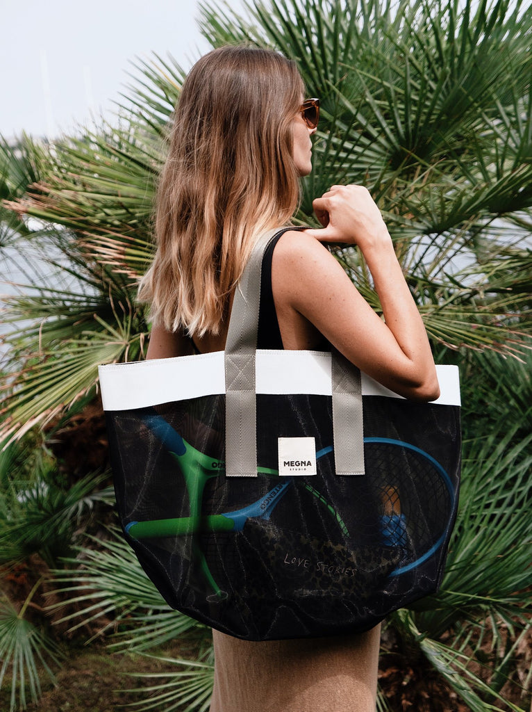 GRACE BEACH BAG | HORIZONTAL BLACK