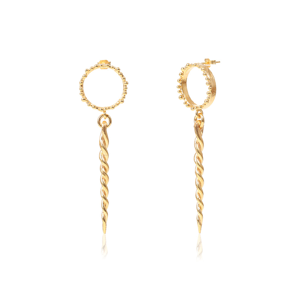 GOLD SERPENTI EARRINGS