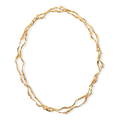 GOLDEN CORAL LONG NECKLACE